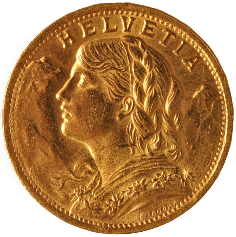 Swiss Franc (.1867 oz)