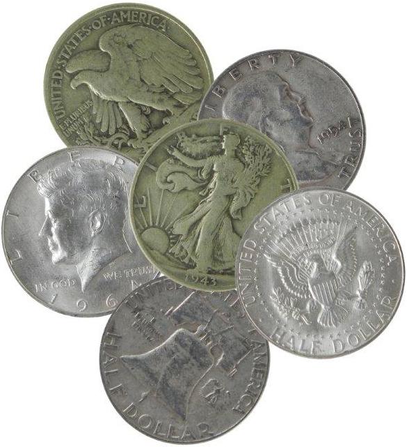 silvercoins90percenthalvespile600